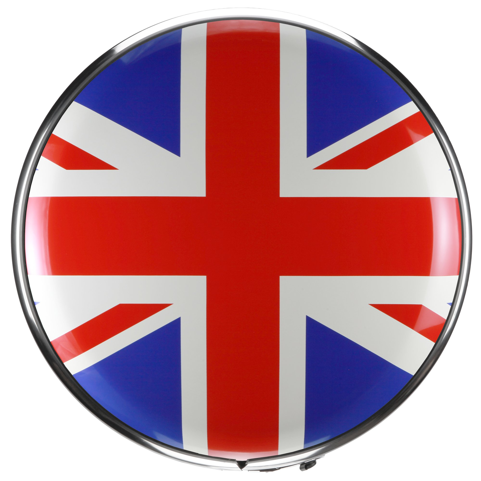 MasterSeries - Continental Tire Cover Kit (245/75R16 ) - (Molded Plastic Face & Polished Stainless Ring) - Union Jack Flag Print by Boomerang (Image #2)