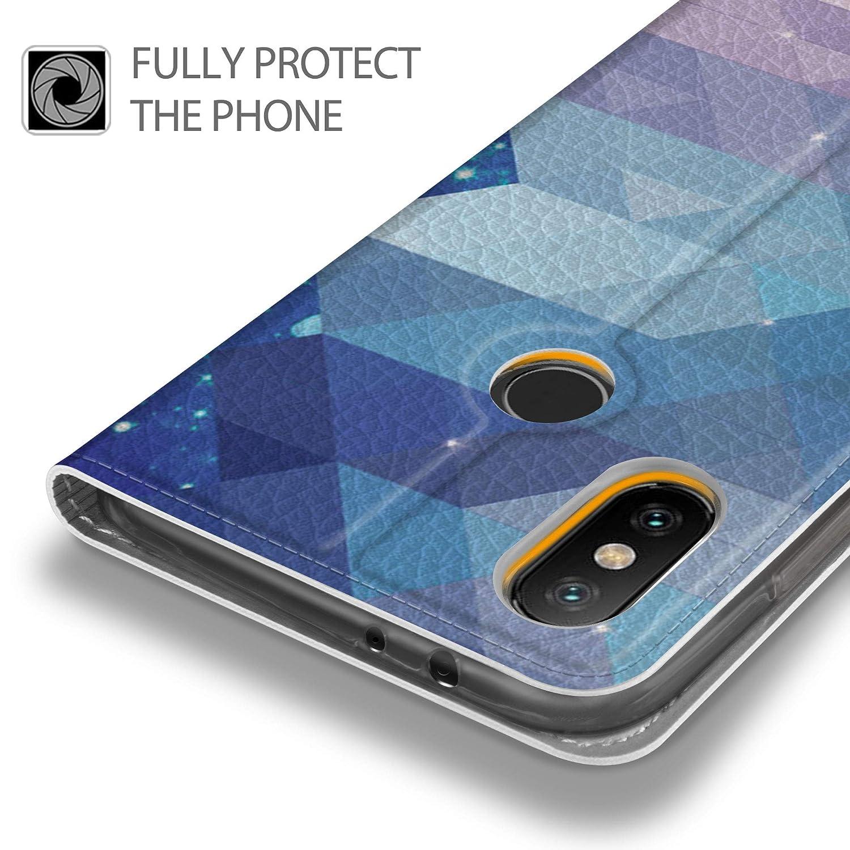 Mi 6X . Geemai Xiaomi Mi A2 Mi 6X Funda Negro Slim Case Protectora PU Funda Multi-ngulo a Prueba de Golpes y Polvo a Prueba de Silicona con Soporte Plegable para Xiaomi Mi A2