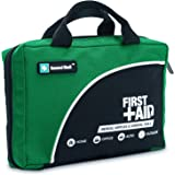 160 Piece Compact First Aid Kit Bag - Including Cold (Ice) Pack, Emergency Blanket,CPR Mask,Moleskin Pad,Perfect for Travel, Home, Office, Car, Camping, Workplace (Green)