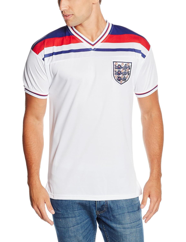 Score Draw England 1982 Home Shirt B017WYYCBE XXL Adults|White White XXL Adults