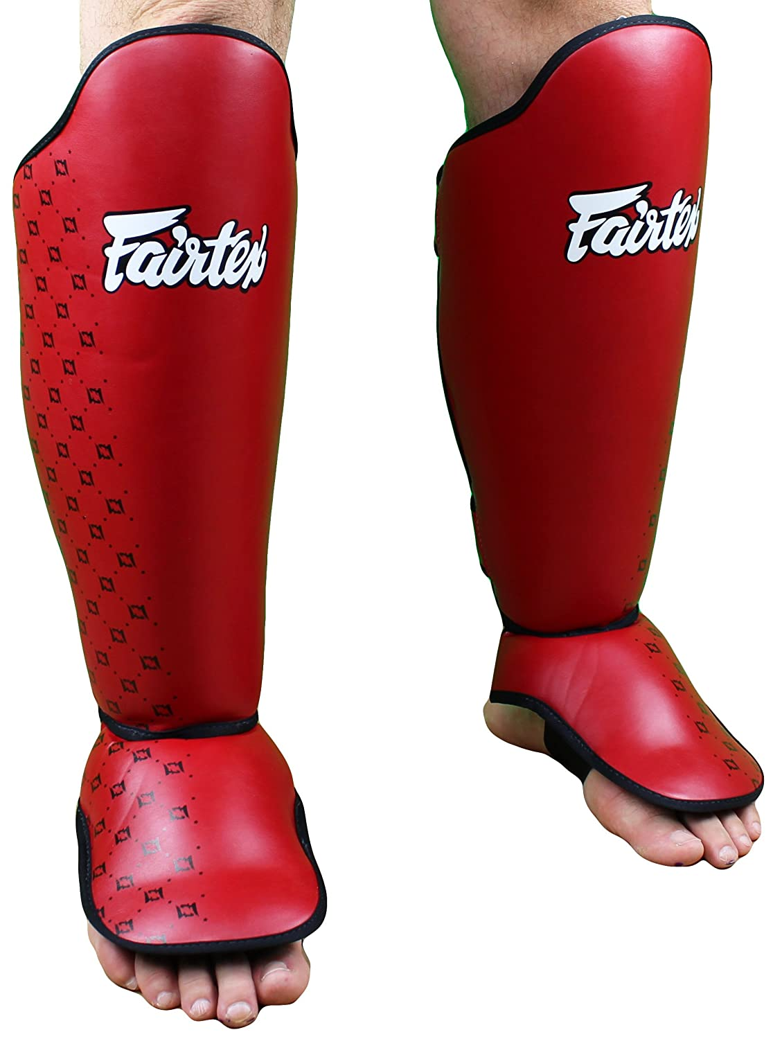 Fairtex Competition Shin Guards - Red