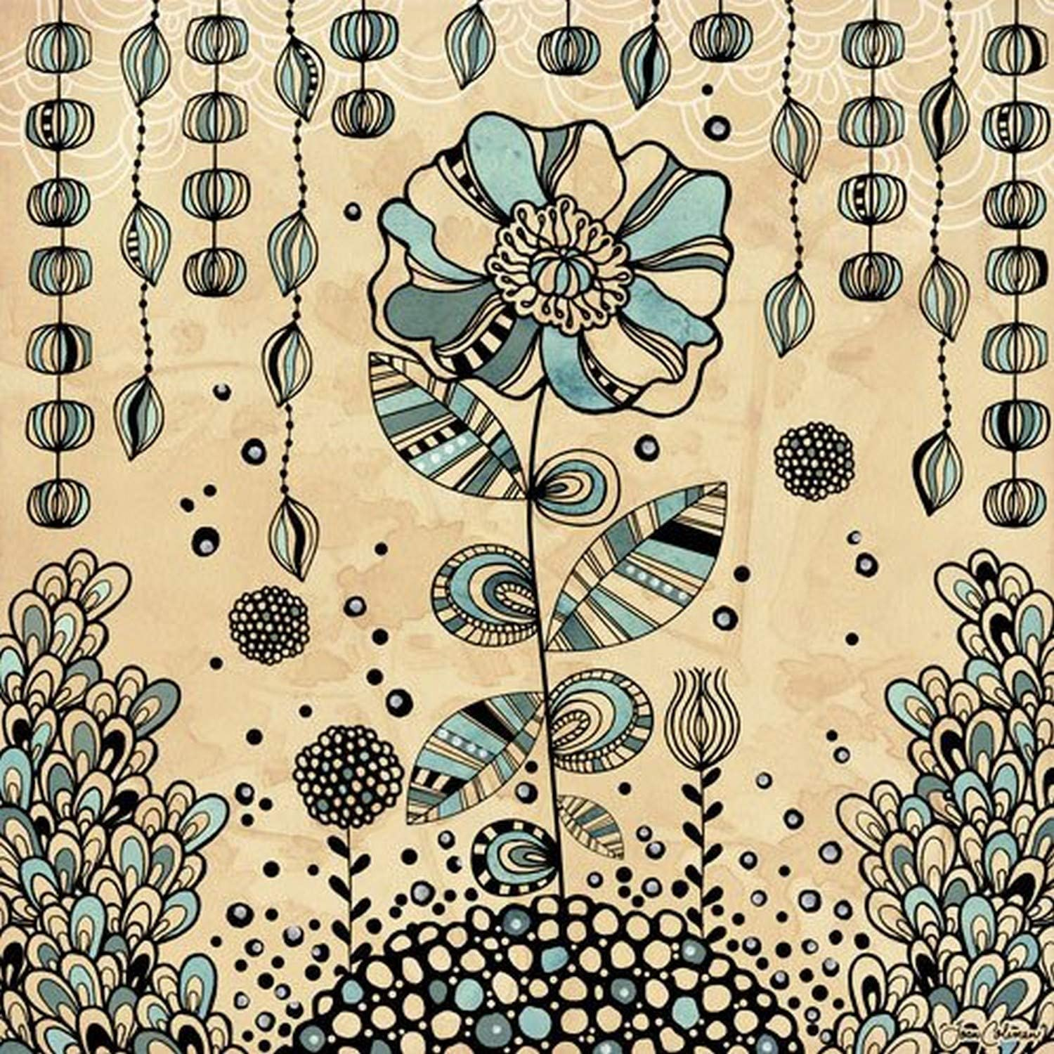 Wheatpaste Art Collective Cosmic Garden Eden by Joan Coleman Posters That Stick Wall Decal, 28 by 28-Inch