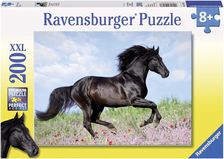 Ravensburger - Puzzles 200 piezas XXL, diseño Black Stallion (12803 7) , Modelos/colores Surtidos, 1 Unidad