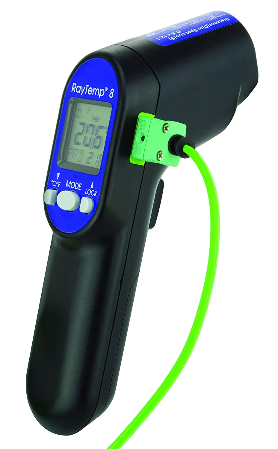 RayTemp 8 infrared thermometer with type K thermocouple socket ETI Ltd 814-045