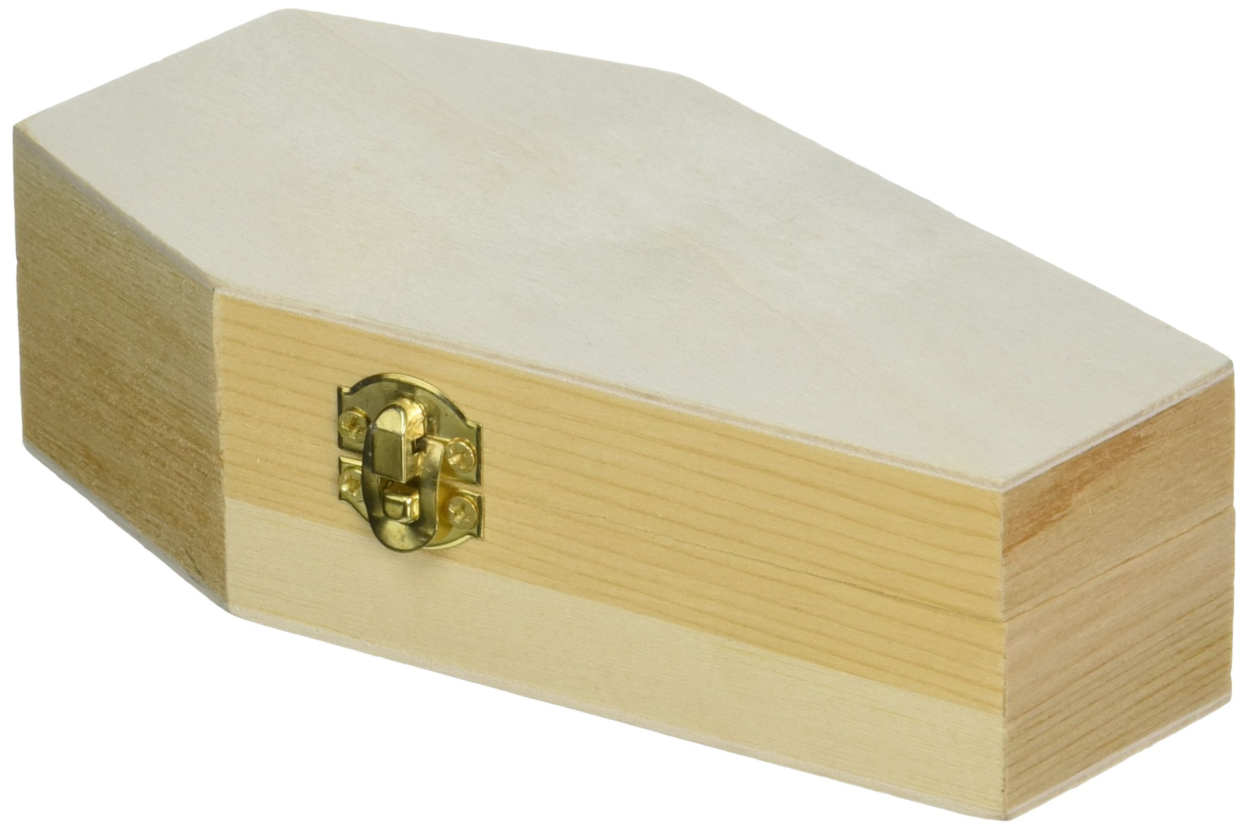 "6"" Miniature Wooden Coffin Box"