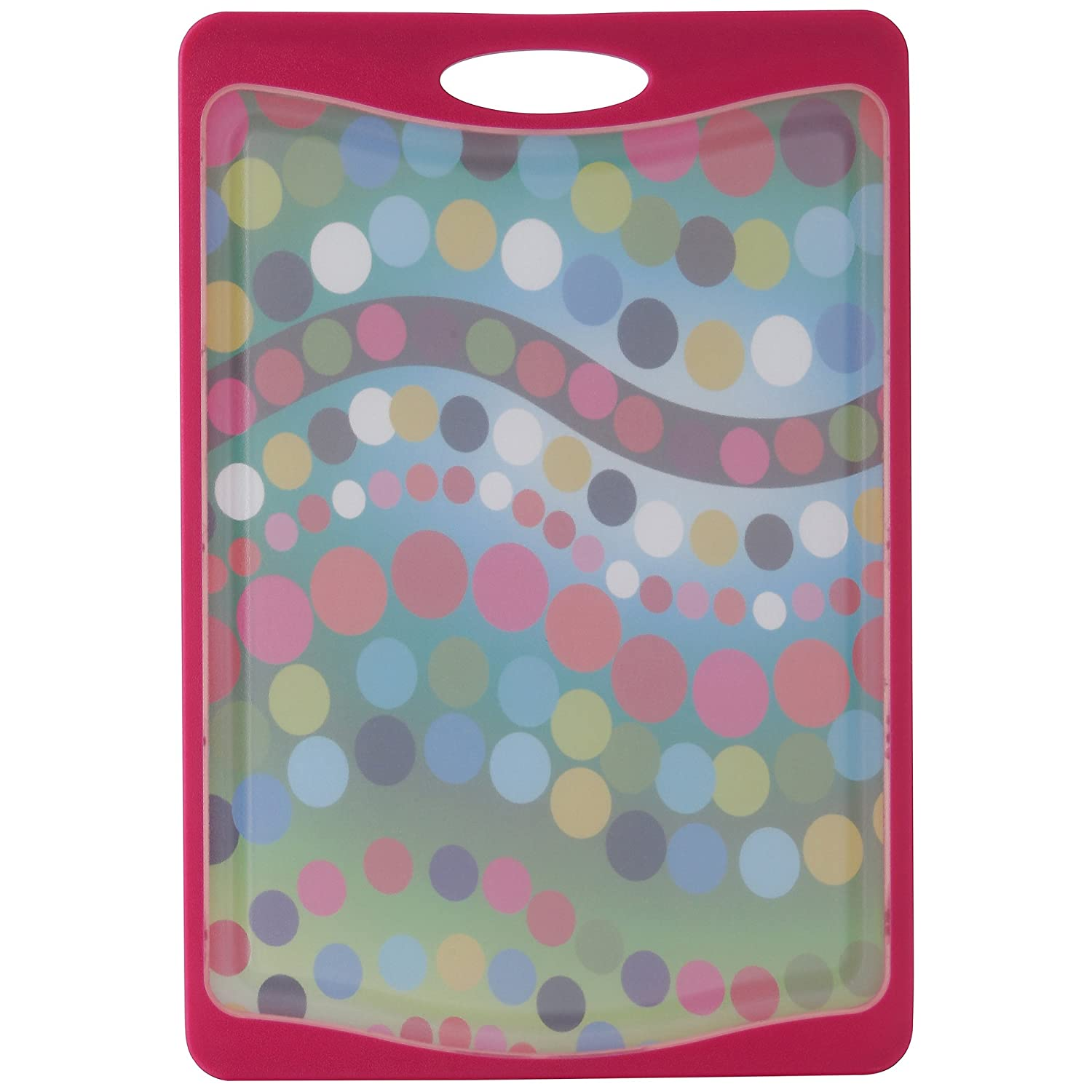 "French Bull 17"" Antimicrobial Cutting Board - Plastic, Non Slip, Knife Friendly, Dishwasher Safe - Bindi"