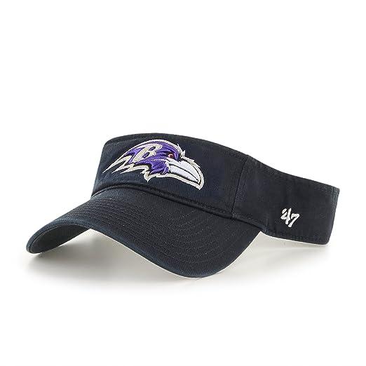96170e2f '47 NFL Baltimore Ravens Clean Up Adjustable Visor, Black, One Size