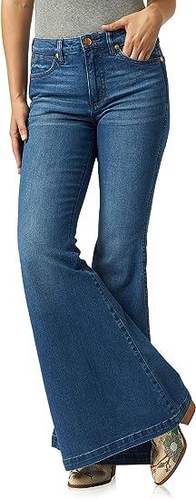 Amazon Com Wrangler Jeans Retro Para Mujer Altamente Acampanados Clothing