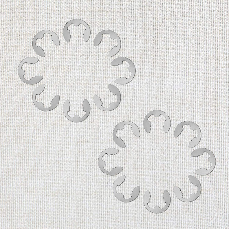 TAZEMAT 450 Pcs Circlips en Acier Inoxydable Kit Anneau de Retunue Interne 14 Tailles Diff/érentes Assortiment de E-Clip avec Bo/îte de Rangement en Plastique