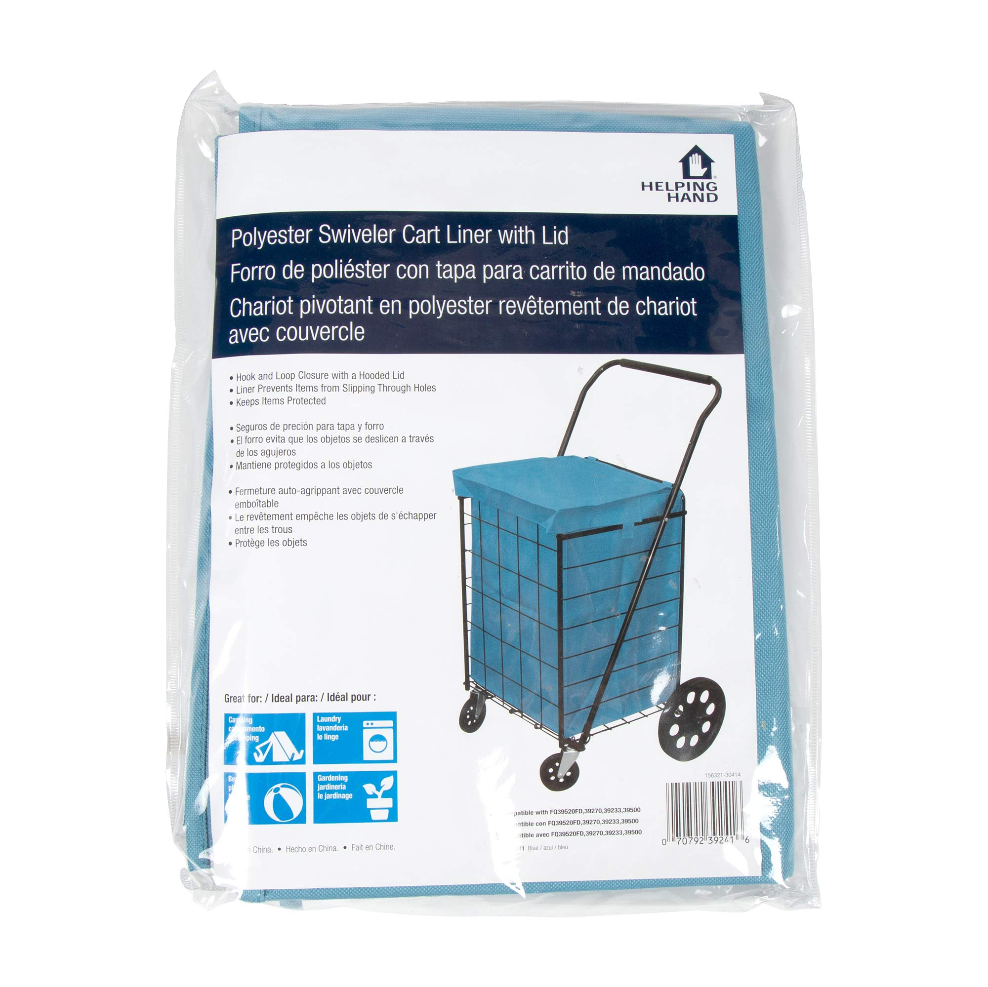 Helping Hand Cart Liner (Blue, Small) - Designed for Pop 'n Shop Cart