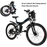 AIMADO Bicicletas Electricas Montaña Plegables 250W 25 km/h