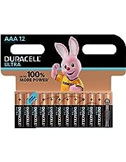 Duracell Ultra AAA con Powercheck Batterie Ministilo Alcaline, Confezione da 12 Pacco del Produttore, 1.5 V LR03 MN2400