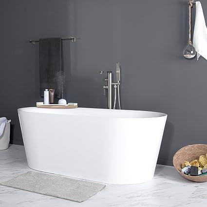 MAYKKE Dewey Oval Acrylic Bathtub Modern Reclining - 4x4 bathtub