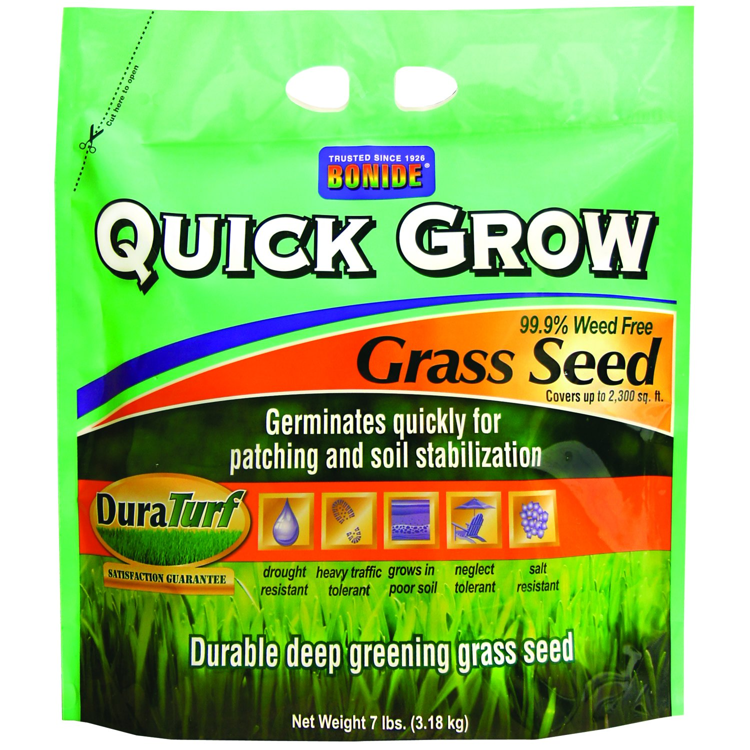 Bonide 60264 Quick Grow Grass Seed, 7-Pound by Bonide