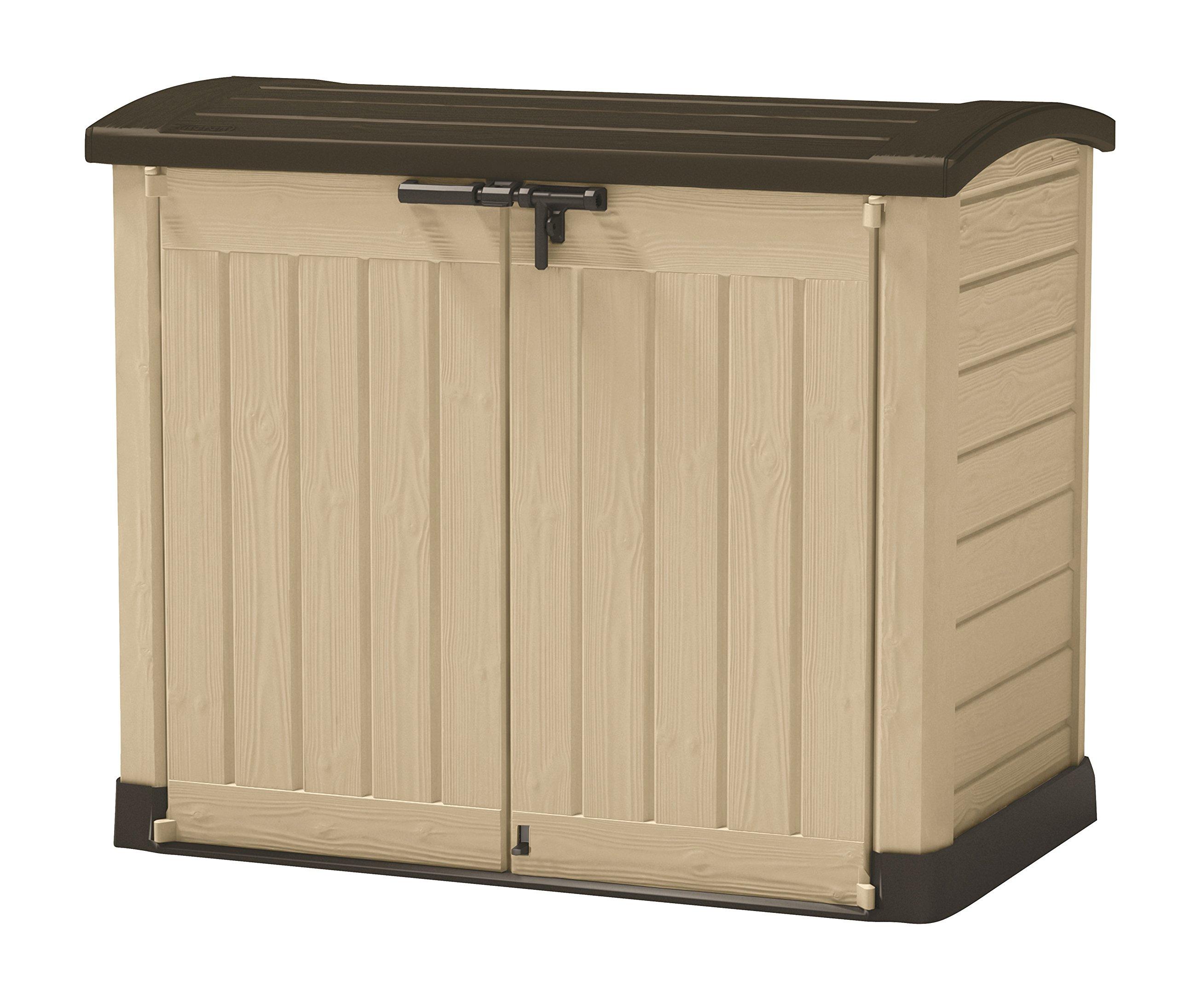 Keter - Cobertizo de jardín exterior Store It Arc. Capacidad 1200 litros. Color topo