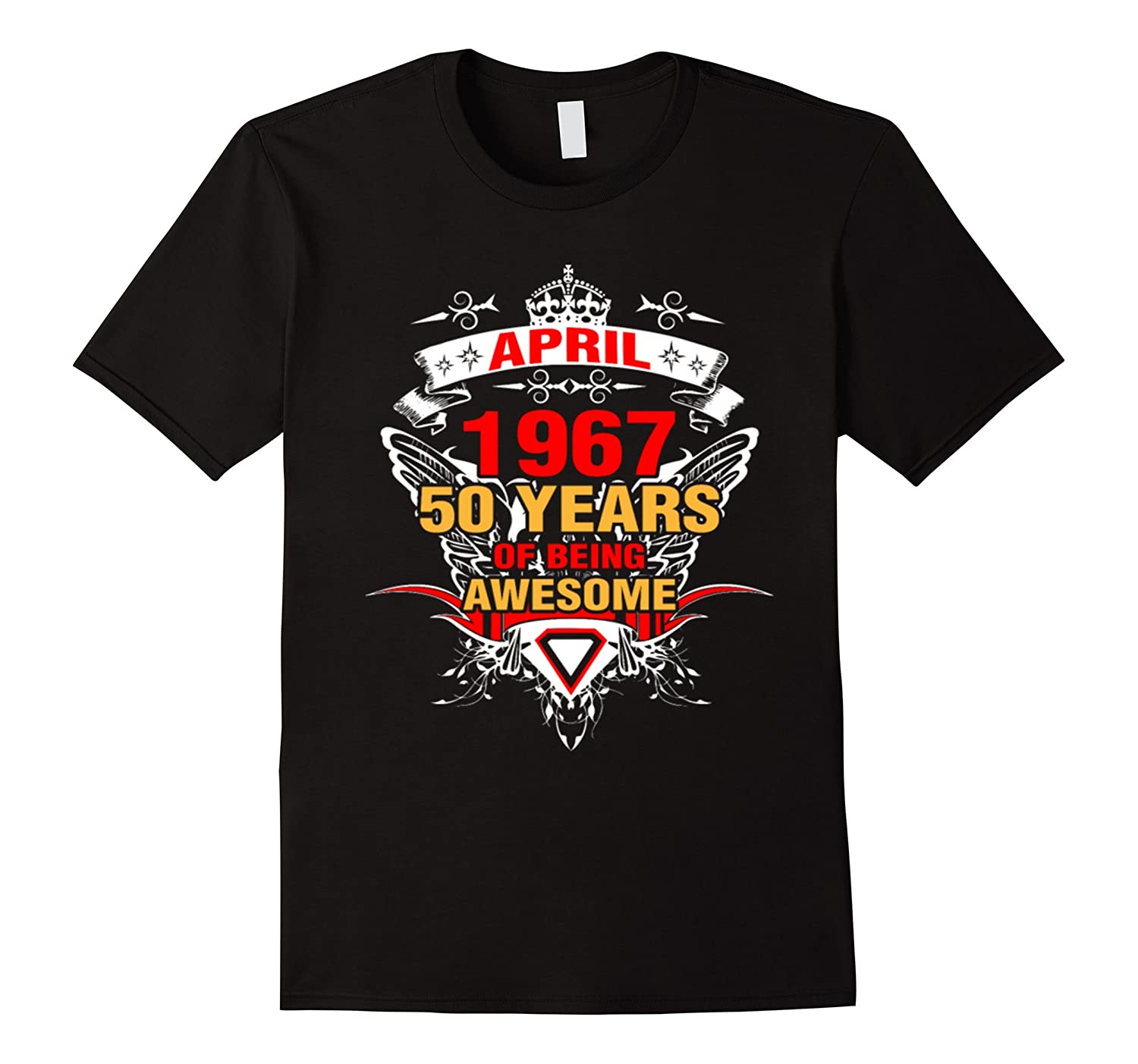 Made In 1967 50th Birthday 50 Years Old Gift T-Shirt-TH