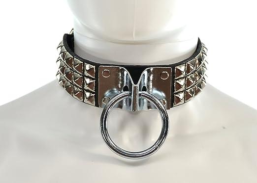 Studded Wide Fetish Bondage Choker Punk Gothic Leather Collar