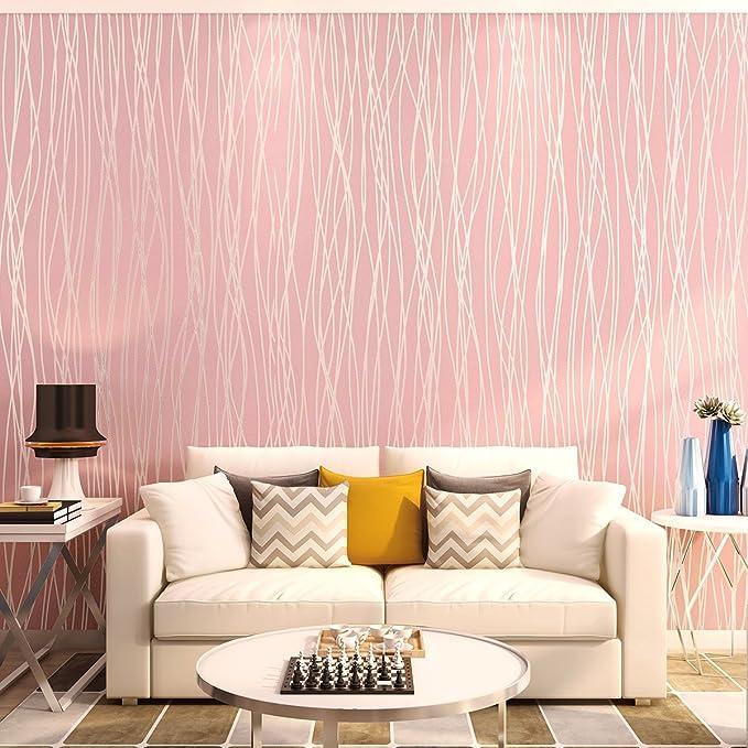 Non-Woven 3D Modern Stripe Fashion Wallpaper for Livingroom, Bedroom ...