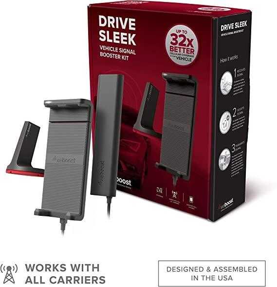 weBoost Drive Sleek (470135) Vehicle Cell Phone Signal Booster with Cradle Mount   Car