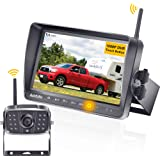 AMTIFO FHD 1080P RV Wireless Backup Camera with 7'' Touch Key DVR Monitor High-Speed Rear Observation System for…