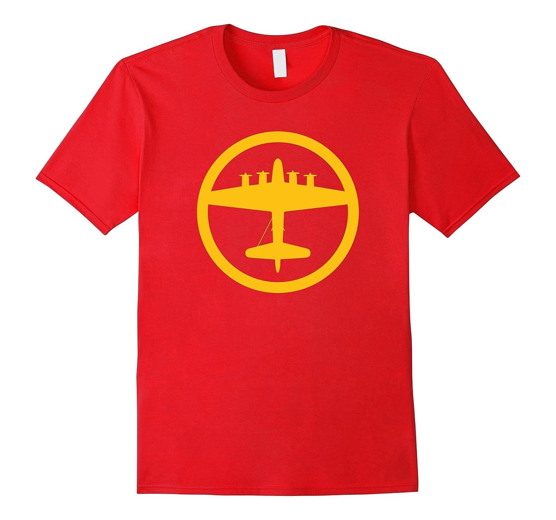 B-17 Flying Fortress Yellow World War II Airplane T-Shirt-TH
