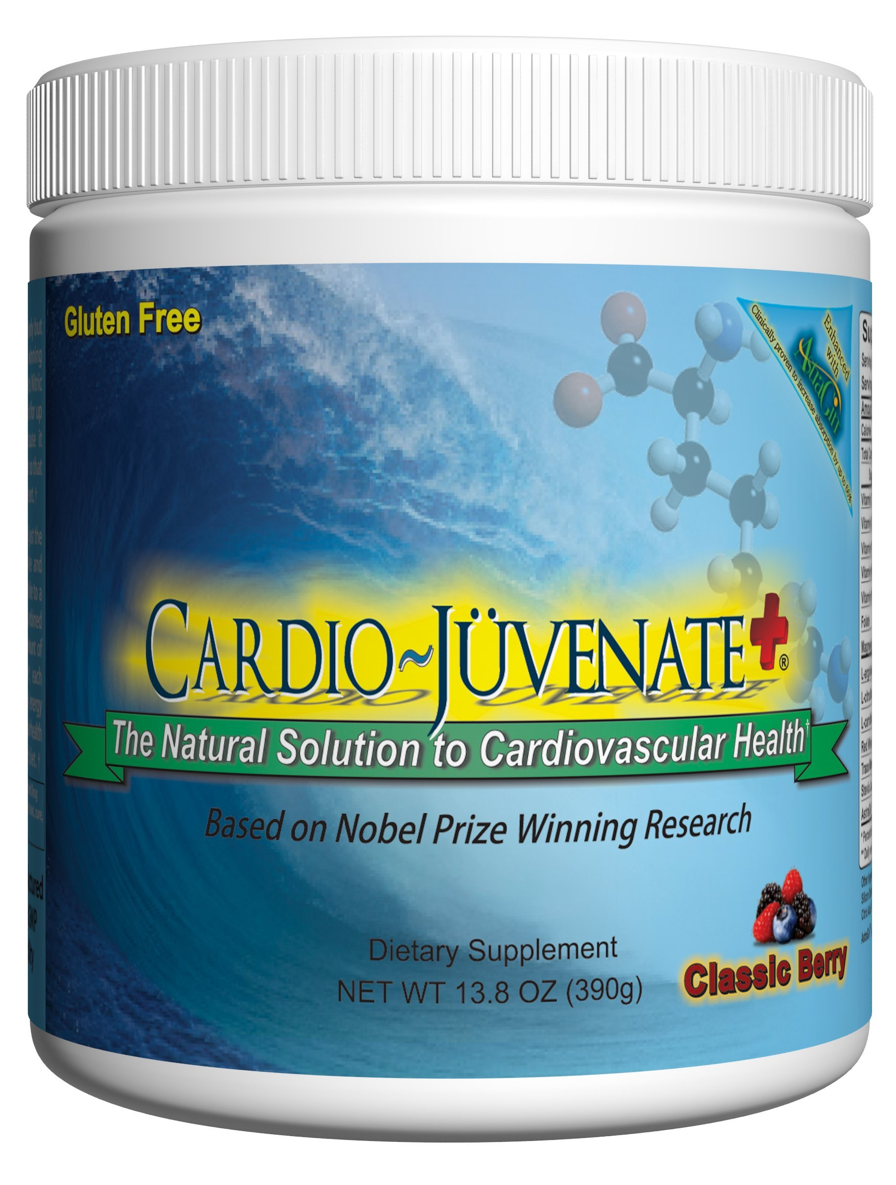 Cardio Juvenate Plus Classic Berry Cardio Health Formula: Nitric Oxide Supplement 5000mg L-arginine, 1000mg L-citrulline, 1000mg L-carnitine per serving to support heart health and blood pressure by Cardio Juvenate