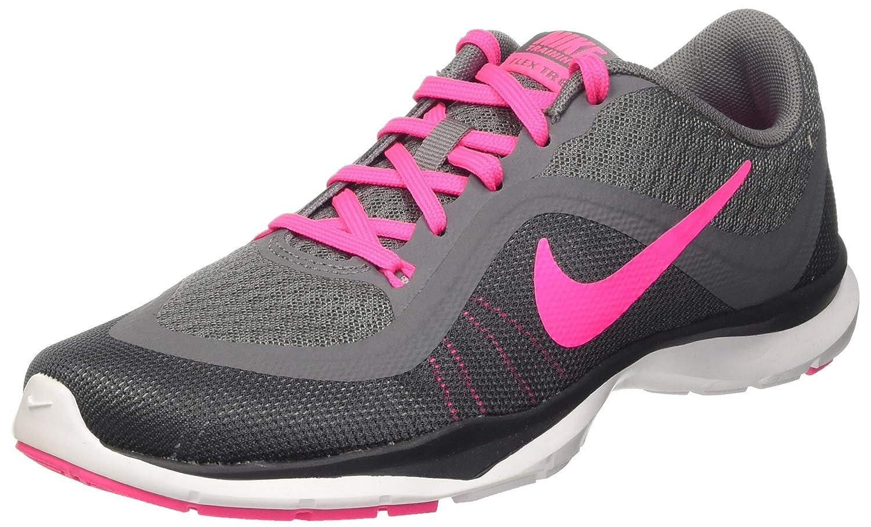 NIKE Women's Flex Trainer 6 B014IDK7WU 9.5 B(M) US|Grey/Pink