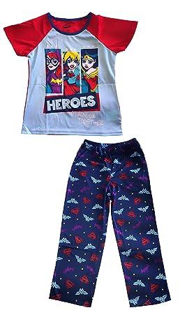 27c4c52fd8 Amazon.com  DC Super Hero Girls  2-Piece Pajama Set Blue