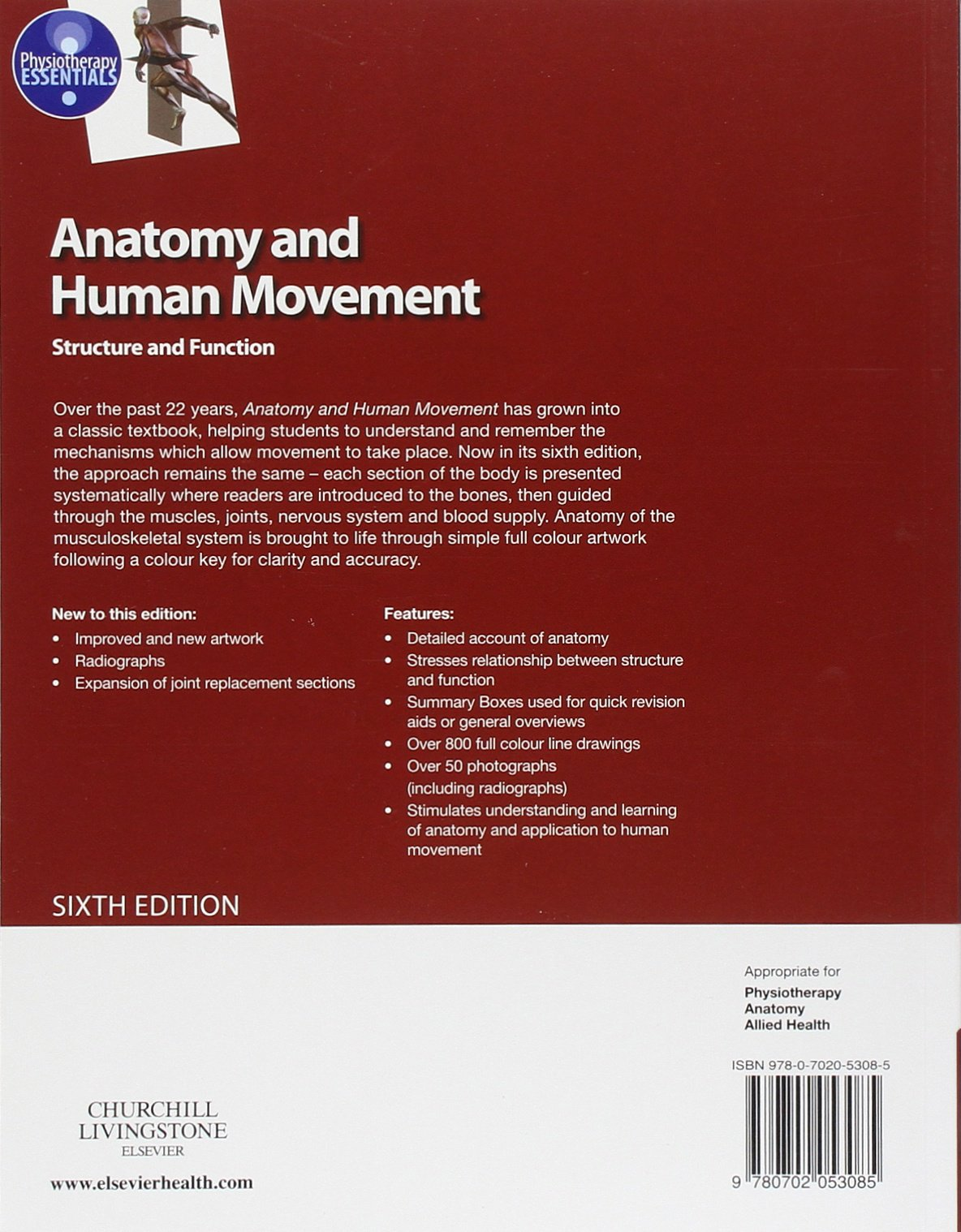 Anatomy And Human Movement Structure And Function Physiotherapy
