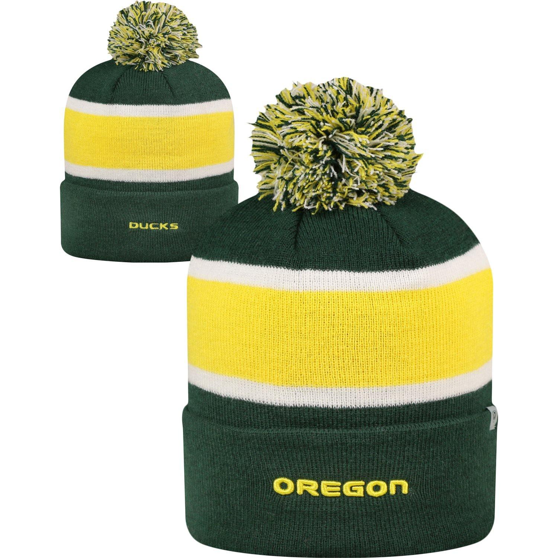 Oregon Ducks Whirl Cuffed Pomニットビーニー帽子/キャップ   B01KB5120A