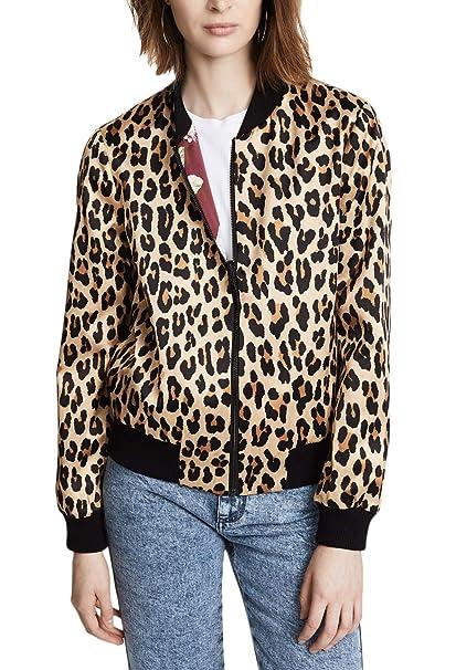 Chaquetas Bomber Mujer Moda Vintage Leopardo Outerwear Otoño ...