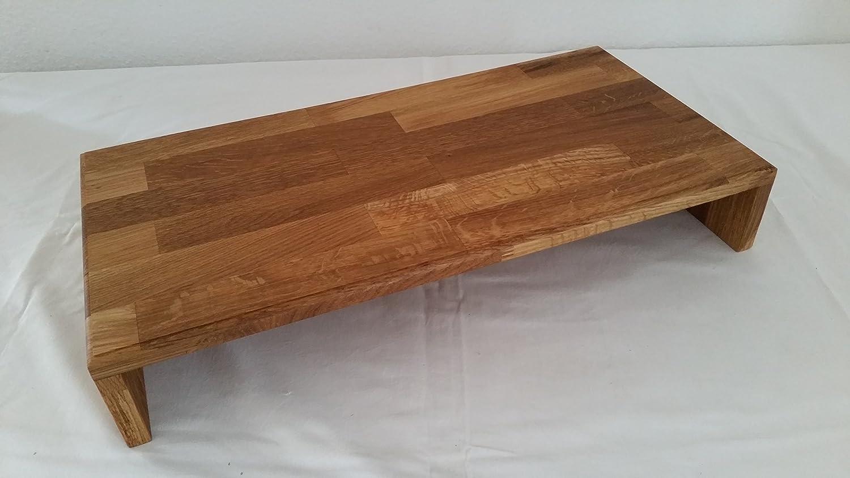 Monitorerhöhung Tischaufsatz Eiche massiv geölt 60x30x10cm