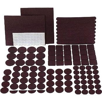 Premium Furniture Pads Set 168 Pcs Value Pack Brown