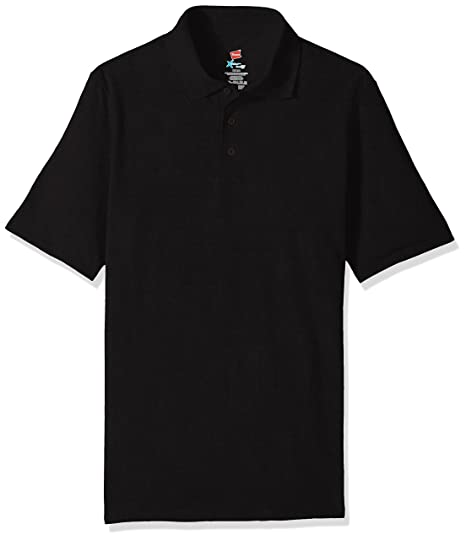 15494bc6 Hanes Men's Short Sleeve X-Temp Polo with FreshIQ at Amazon Men's ...
