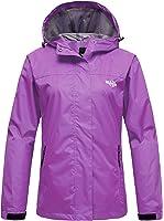 Wantdo Women's Hooded Outdoor Rain Jacket Waterproof Windbreaker