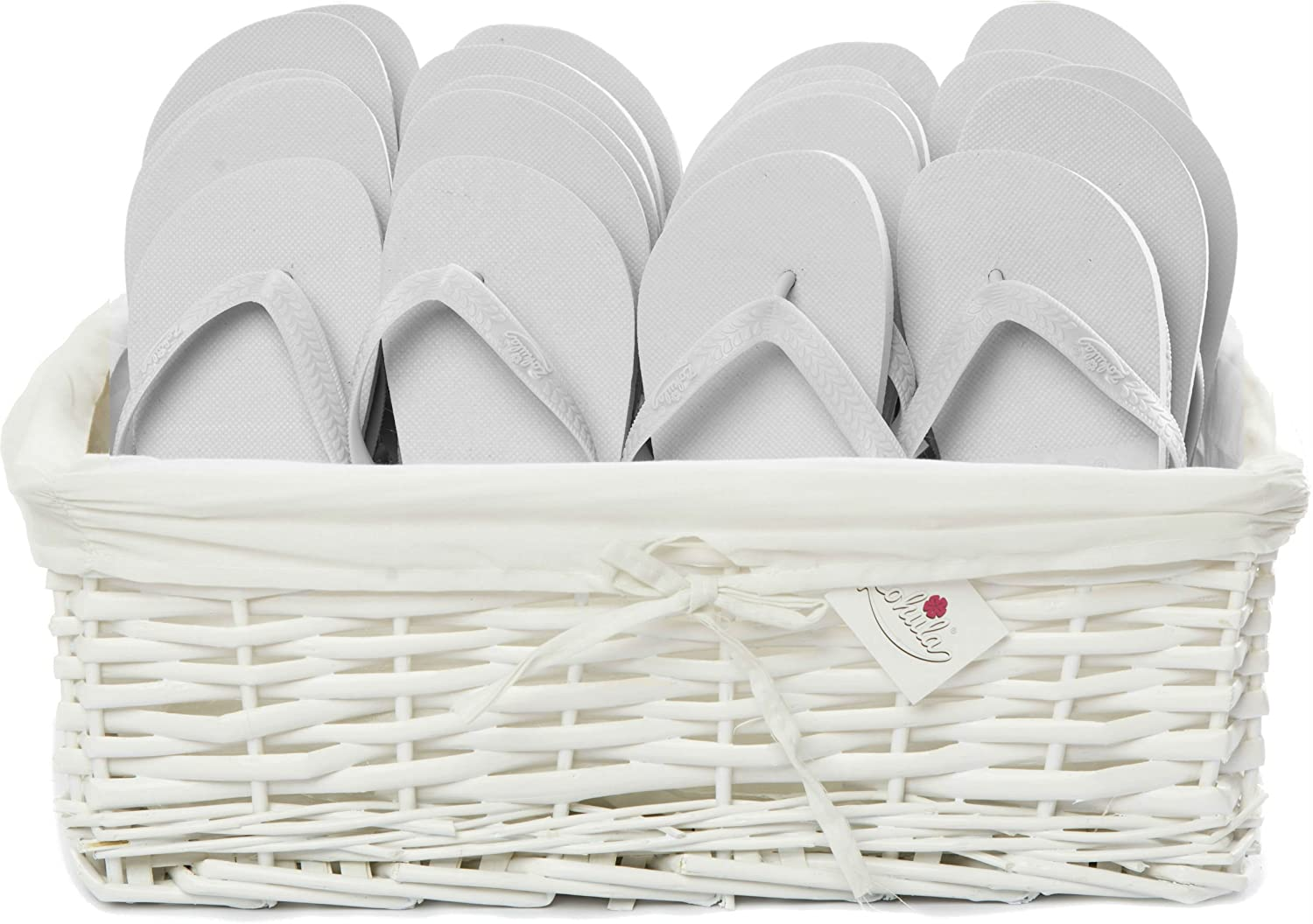 3b7dc48480e157 Zohula White Originals Party Pack - 10 Pairs Medium 5 6-10 Pairs Extra  Large 9 10 - Including Wicker Basket  Amazon.co.uk  Shoes   Bags