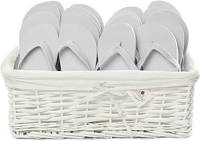 18b98e9b1 Zohula Flip Flops Wedding Baskets - 20 Pairs - Choice of Colours   Sizes (