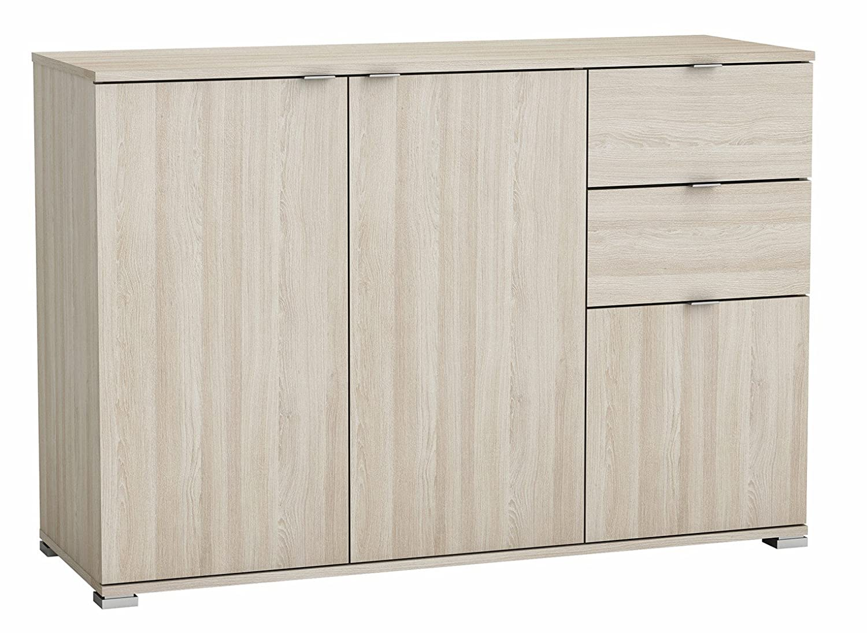 Kommode shannon eiche grau Anrichte Schrank Sideboard Schubladenkommode Aufbewahrung Kinderzimmer Jugendzimmer Schlafzimmer
