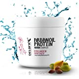 DELOFIL Argan Oil Hair Mask-Protein Hair Treatment-Organic Collagen Mask-Daily Deep Conditioner For Dry Damaged Colored Hair 300ml