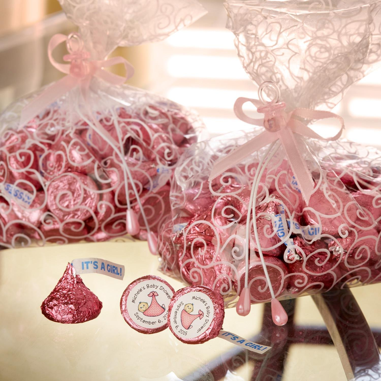 Amazon.com : HERSHEY\'S Kisses Chocolate Candy, Baby Shower Pink\