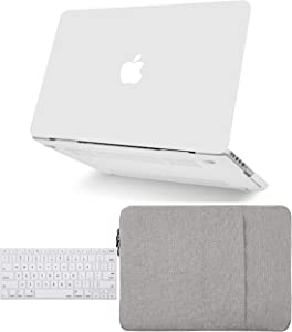 """KECC Laptop Case for MacBook Pro 13"""" (2020) w/Keyboard Cover Plastic Hard Shell A2289/A2251 Touch Bar 2 in 1 Bundle (Sand White)"""