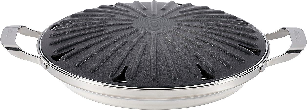 Circulon anodizado antiadherente 30,48 cm redondo hornillo, Grill con accesorios