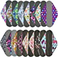 3 Pieces 14 Inch Overnight Charcoal Bamboo Reusable Mama Cloth/ Menstrual Pads - You Choose 3 From 17 Designs and Send Message to Me