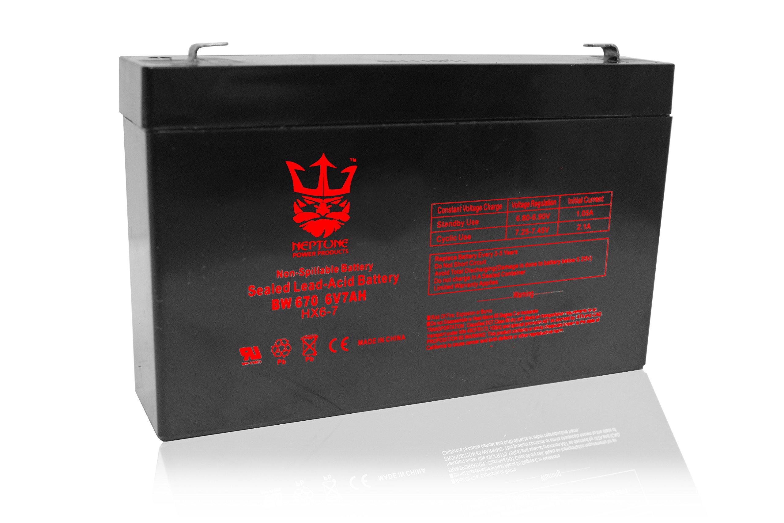 Neptune 6V 7Ah NT-670 Rechargeable SLA Sealed Lead Acid Battery