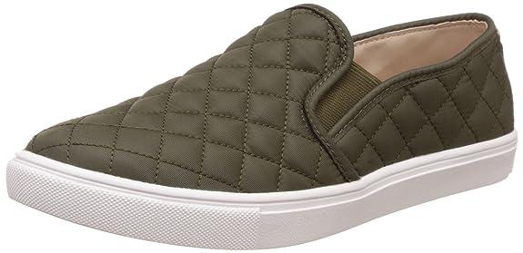 Steve Madden Women's Ecntrcqt Fashion Sneaker, Olive, 9.5 M US