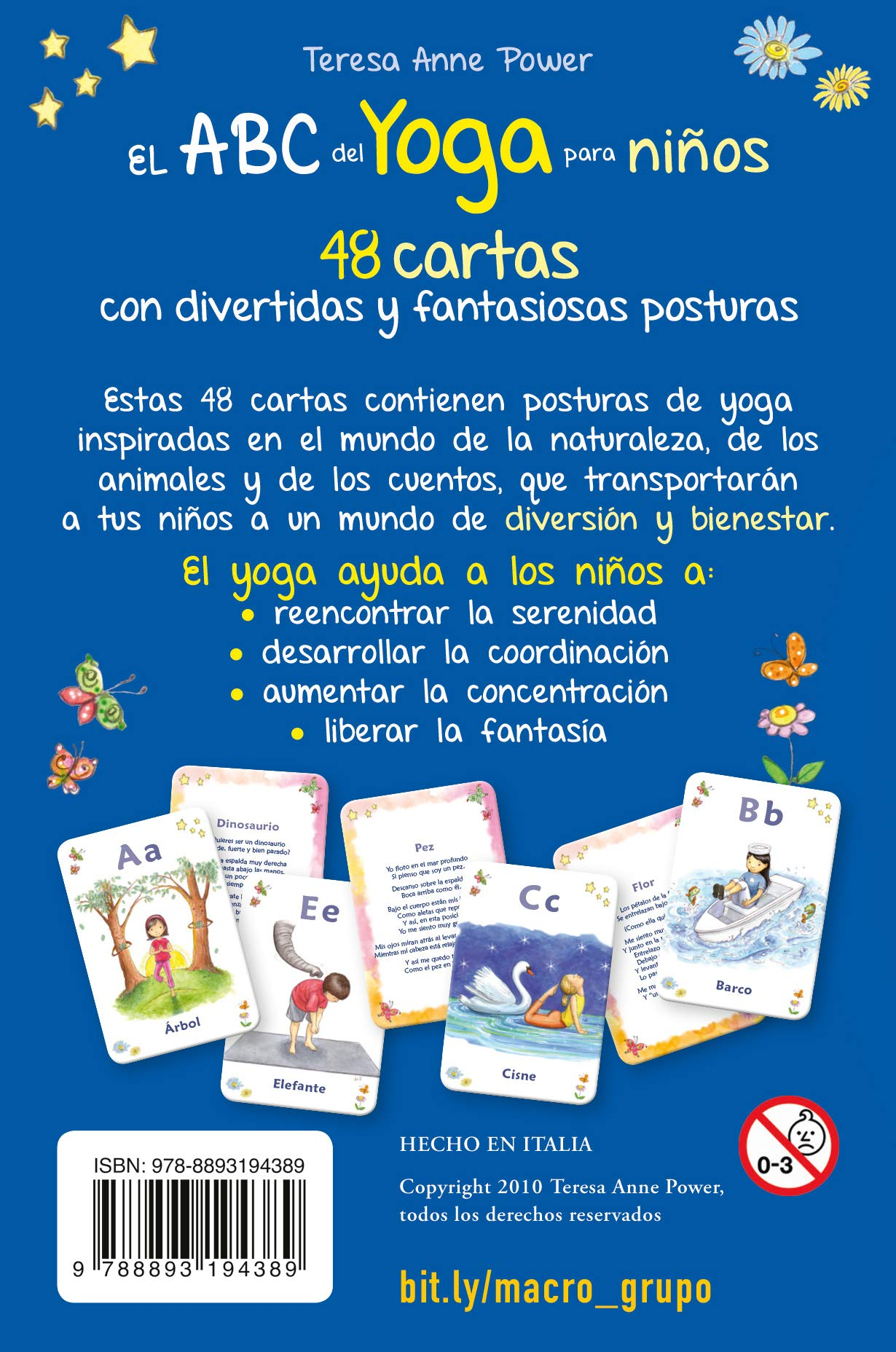 Amazon.com: ABC DEL YOGA PARA NIÑOS. CARTAS (9788893194389 ...