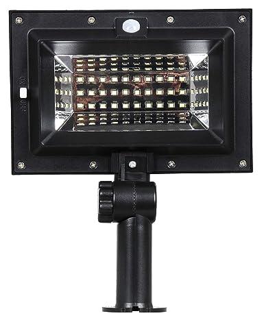 Foco Exterior Solar LED con Detector de Movimiento y Sensor ...