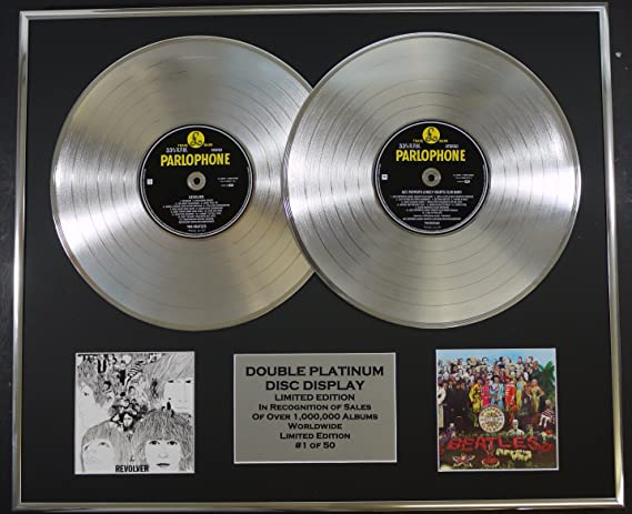 The Beatles Double Platinum Record Display Limited Edition Coa Revolver And Sgt Peppers Küche Haushalt