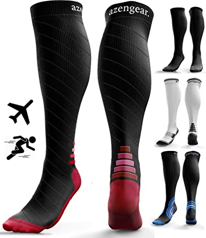 WSJIABIN outdoor sport compression socks compression socks Unisex Leg Calf Sleeves Men Women Varicose Vein Circulation Compression Socks Medical Elastic Stockings