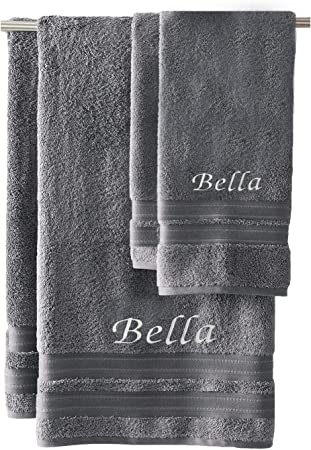 Custom Monogrammed Personalized Embroidered Towels
